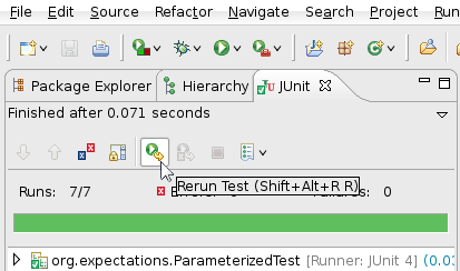 ReRun JUnit Test Button